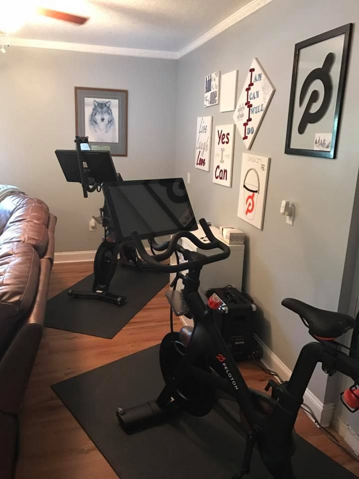 Peloton in a small space living room